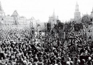 Крестный ход в защиту Церкви и Поруганных святынь. Москва...1918 г.